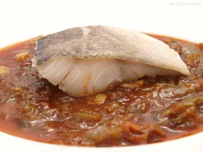 Bacalao al vapor con salsa vizcaína