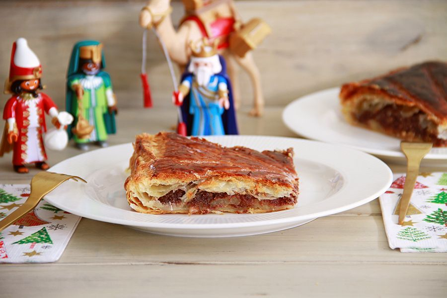 Galette des Rois con franchipán de chocolate, con Thermomix
