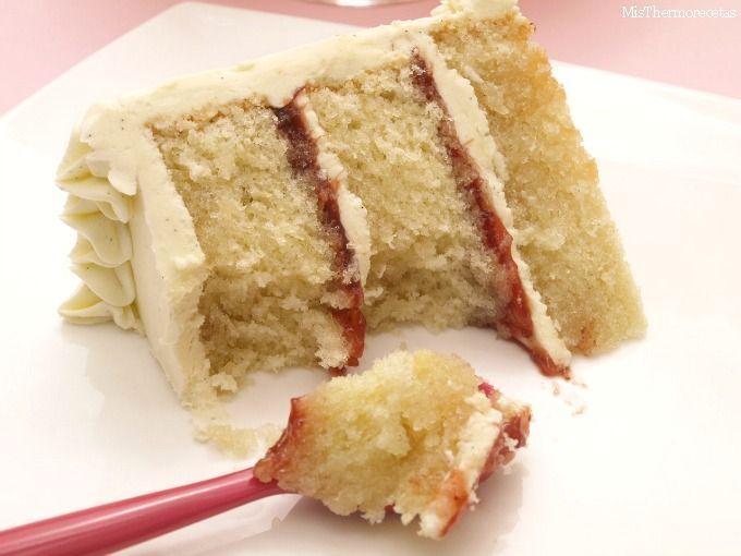 Layer cake de vainilla y fresa