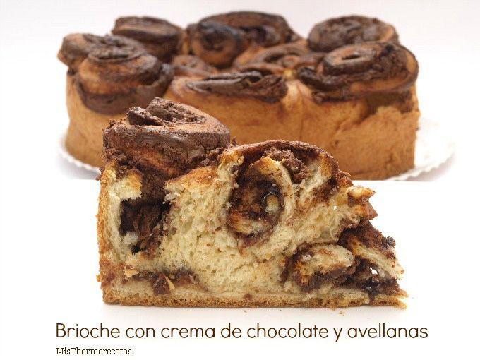 Brioche con crema de chocolate y avellanas