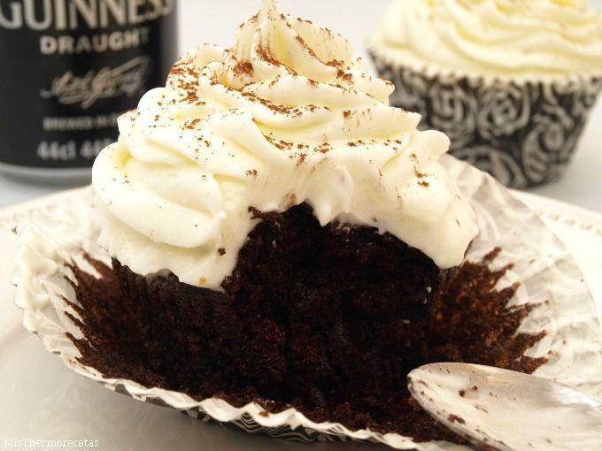 Cupcakes de cerveza Guinness