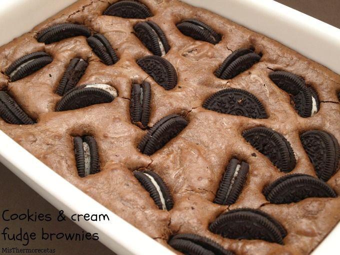 Brownie de galletas Oreo (Cookies & Cream Fudge Brownies)