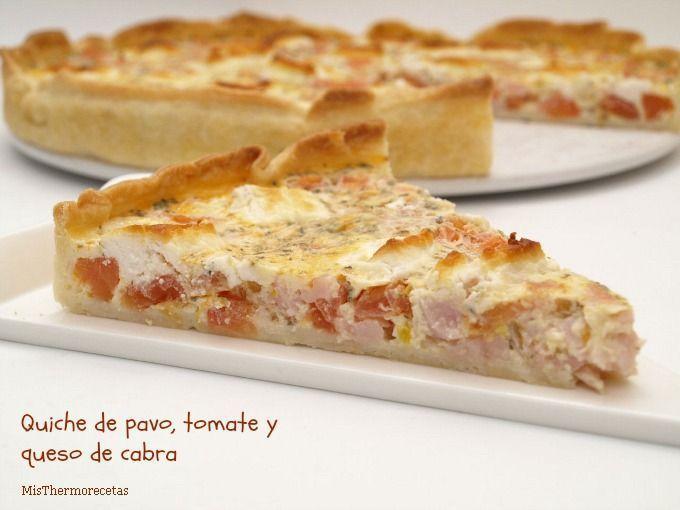 Quiche de pavo, tomate y queso de cabra