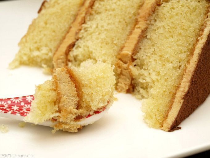 Layer cake de vainilla y dulce de leche