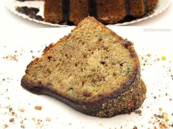 Bundt Cake de vainilla y m&m´s