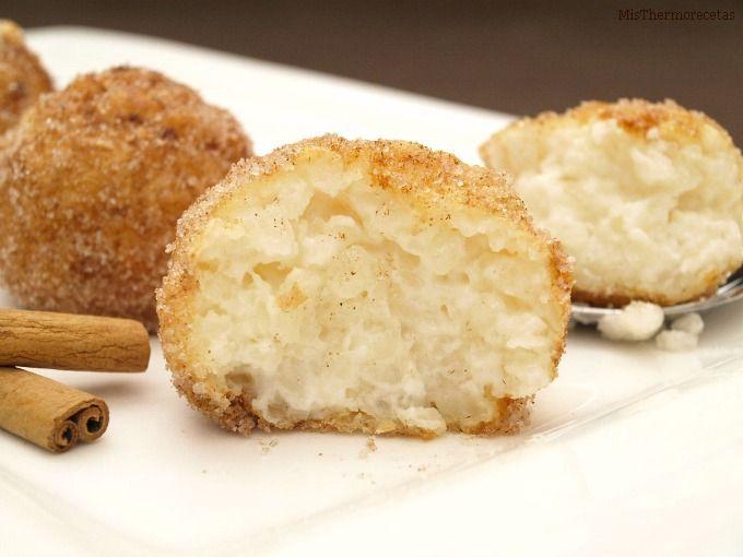 Croquetas de arroz con leche