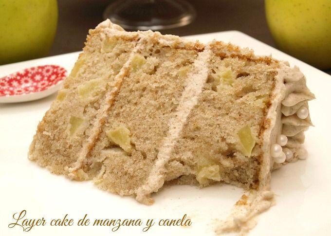 Layer cake de manzana y canela