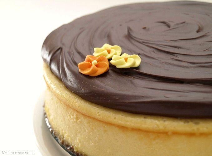 Cheesecake de Baileys con chocolate - Recetas Thermomix
