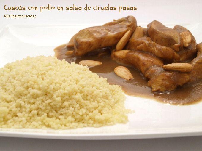 Cuscús con pollo en salsa de ciruelas pasas