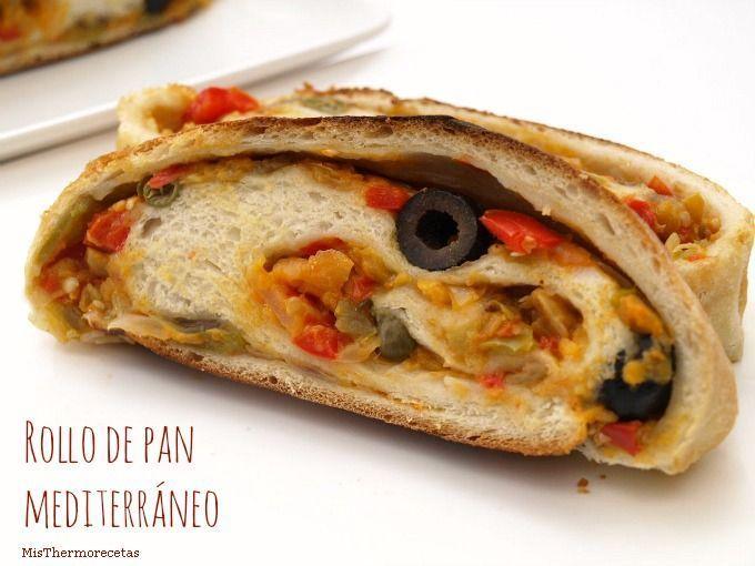Rollo de pan mediterráneo