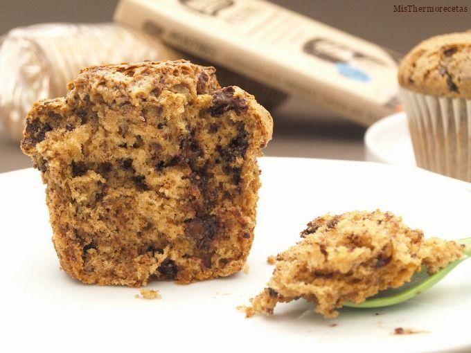 Magdalenas de galletas y chocolate