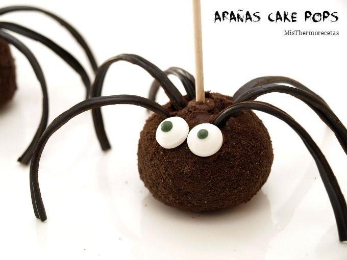 Halloween: Arañas cake pops