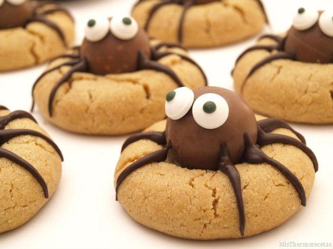 Halloween: Arañas de mantequilla de cacahuete