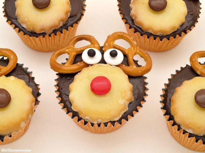 Cupcakes para Navidad con Rudolph y los renos - MisThermorecetas