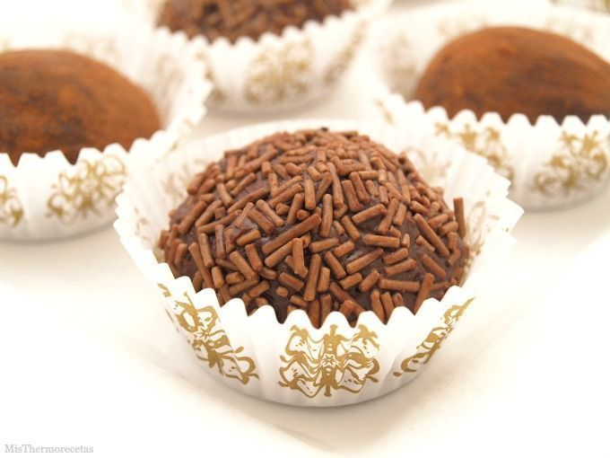 Trufas de chocolate negro - MisThermorecetas