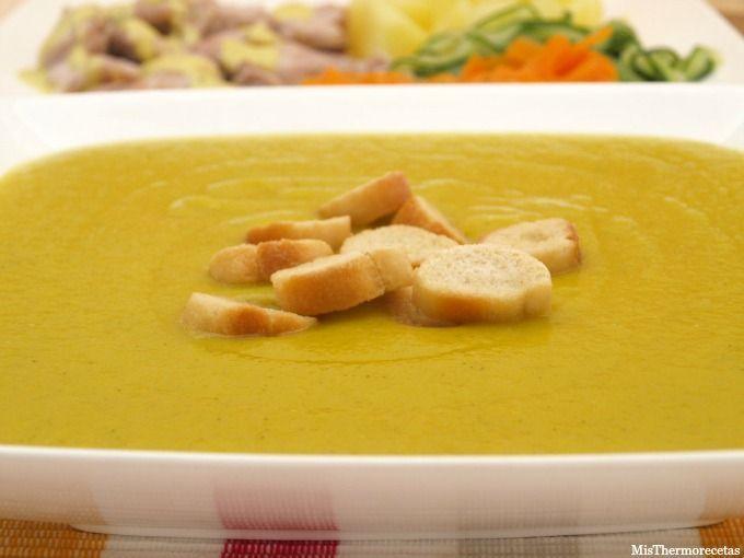 Menú completo: crema de verdura y pollo con salsa suprema - MisThermorecetas