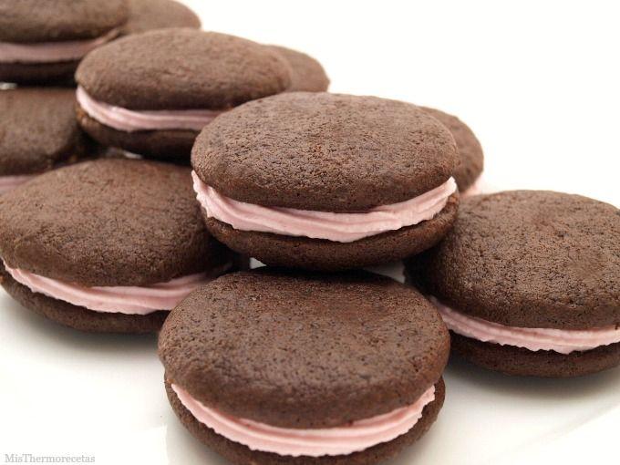 Whoopie pies de chocolate con crema de avellanas - MisThermorecetas
