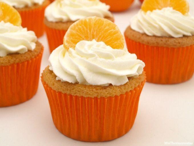Cupcakes de mandarina - MisThermorecetas