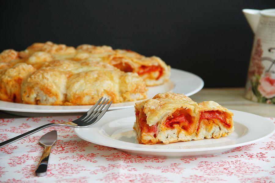 Bocaditos de pizza y pepperoni
