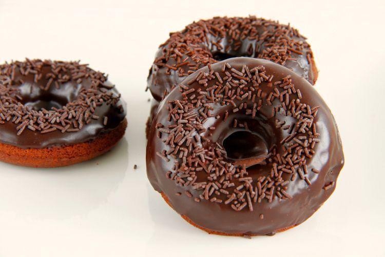 Donuts de chocolate, al horno