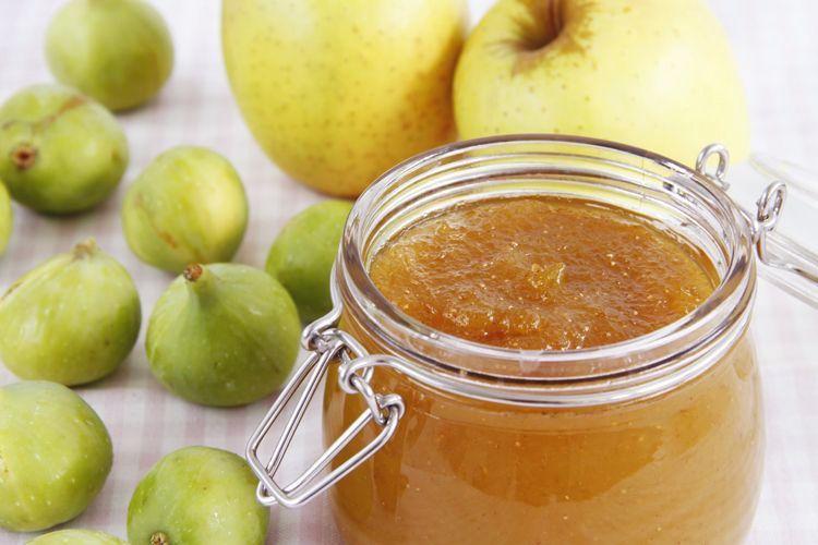 Mermelada de higos y manzana