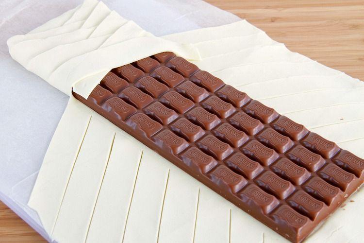 Trenza de hojaldre y chocolate - MisThermorecetas