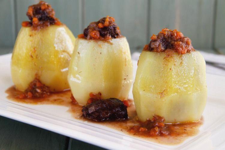 Carrilladas de ibérico en patata confitada