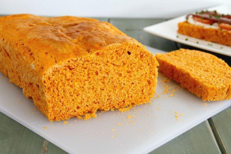 Pan de molde de pimientos del piquillo