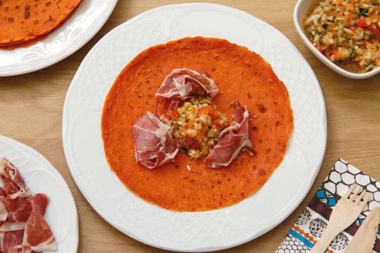 Crêpes de gazpacho - MisThermorecetas