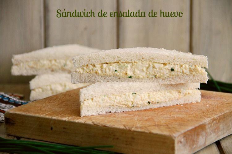 Sándwich de ensalada de huevo, con Thermomix