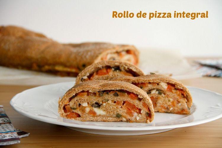 Rollo de pizza integral