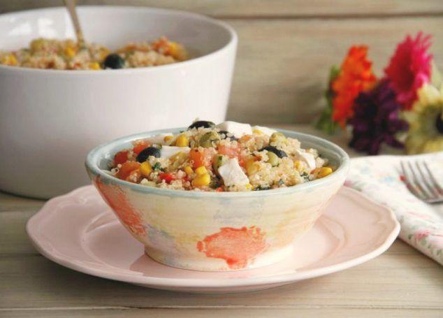 Ensalada de quinoa con habas (Solterito de quinoa)