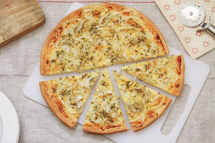 Pizza genovesa de cebolla, con Thermomix