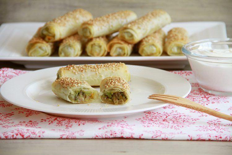 Rollitos de verdura al curry, con Thermomix