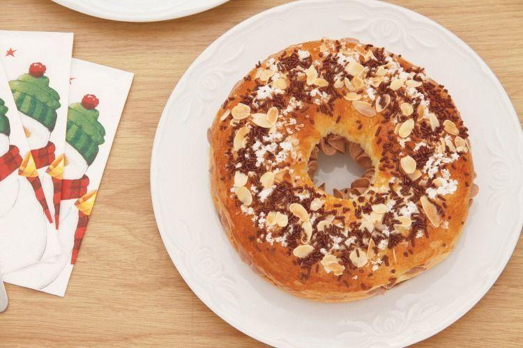 Mini Roscón de Reyes relleno de trufa
