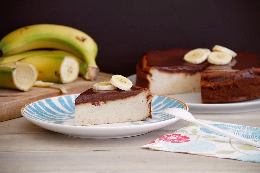 Tarta de queso y plátano, con Thermomix