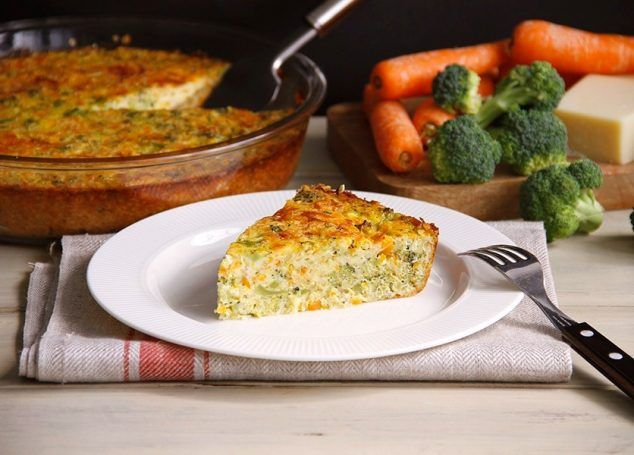 Pastel de zanahoria y brócoli