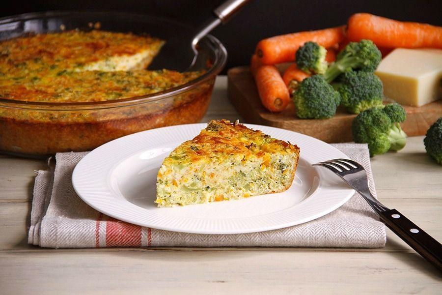 Pastel de zanahoria y brócoli, con Thermomix