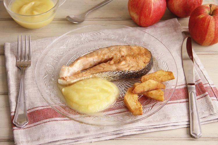 Salmón con manzana, con Thermomix