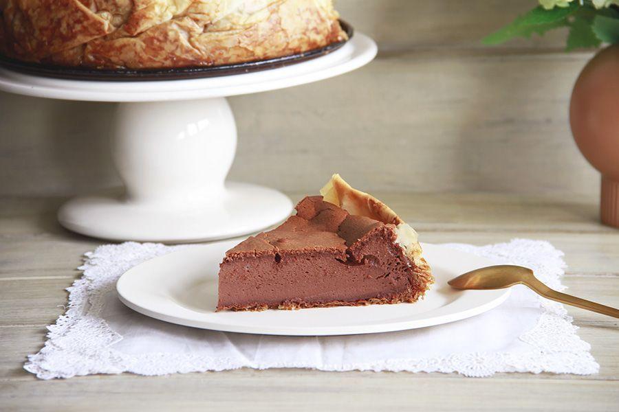 Cheesecake de mousse de chocolate