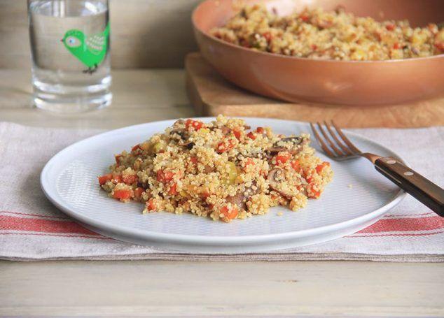 Quinoa con zanahoria y champiñones