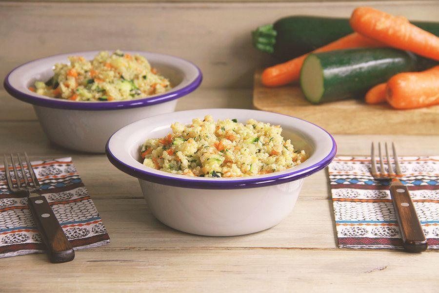 Ensalada de quinoa con calabacín y zanahoria