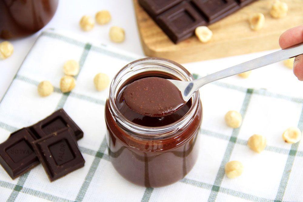 Crema de cacao y avellanas, sin azúcar