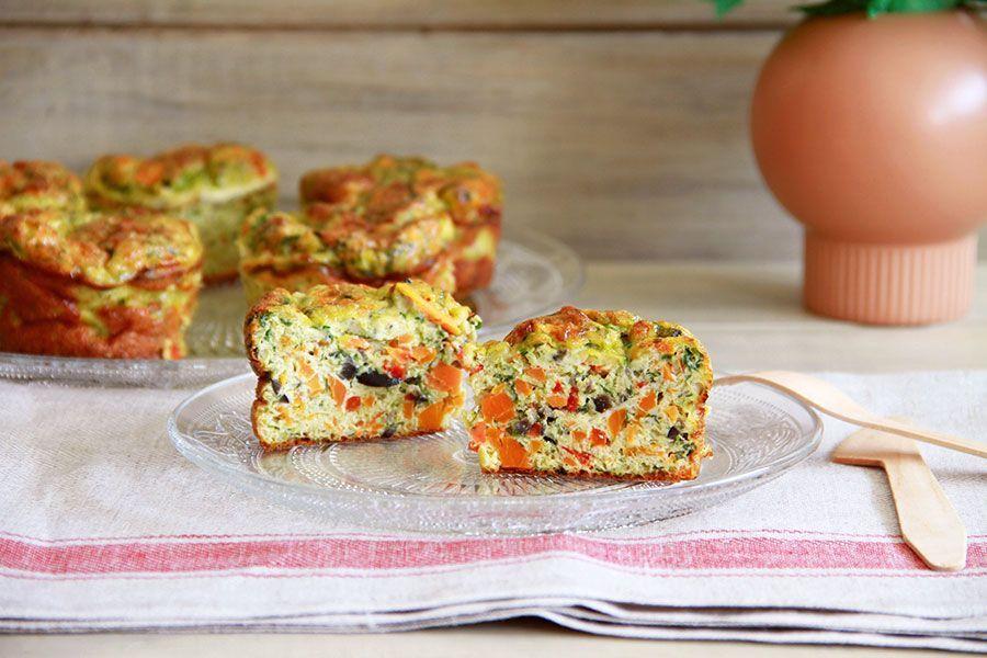 Mini frittatas de verduras y queso