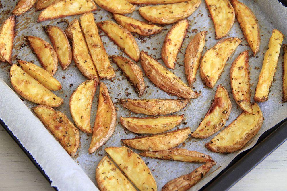 Patatas con especias, al horno